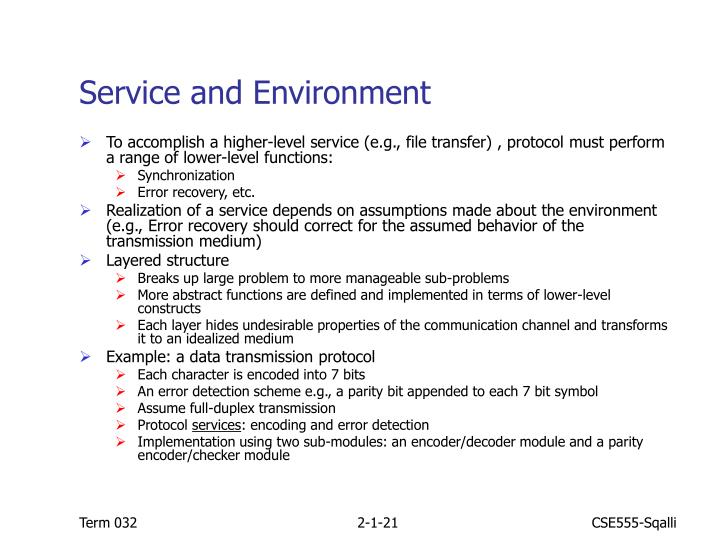 Service and Environment