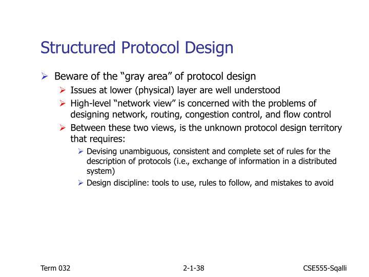 Structured Protocol Design