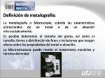 definici n de metalograf a