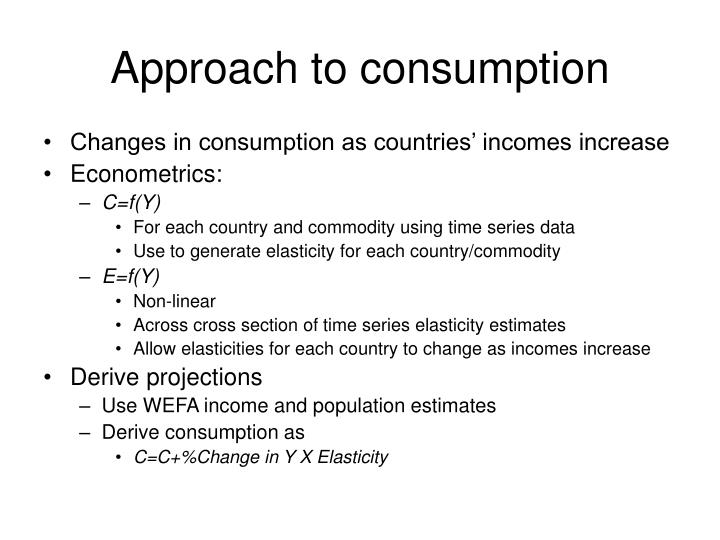 Approach to consumption