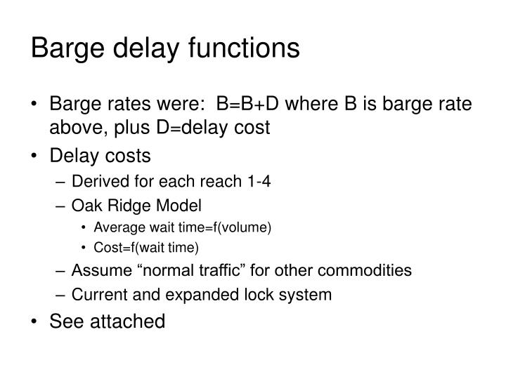 Barge delay functions