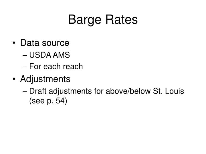 Barge Rates