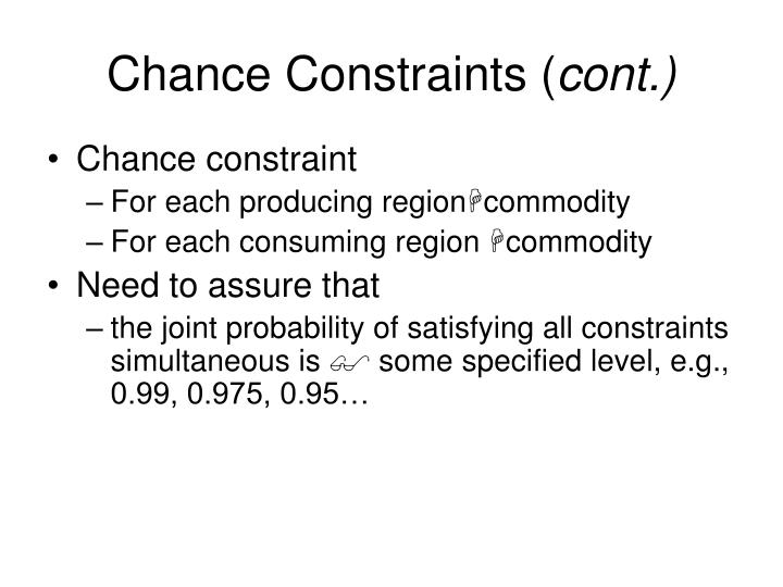 Chance Constraints (