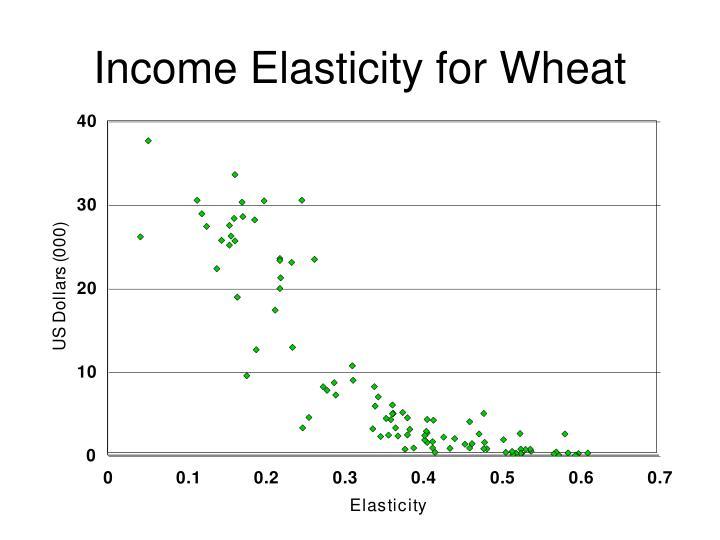 Income Elasticity for Wheat