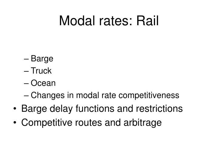 Modal rates: Rail