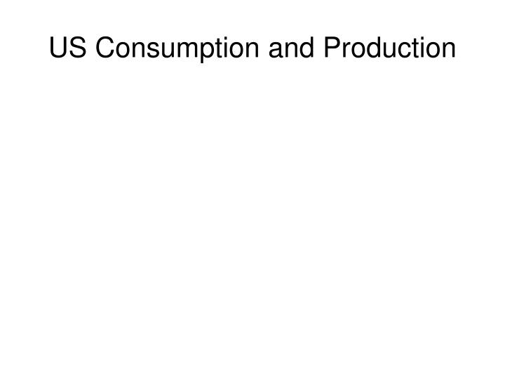 US Consumption and Production