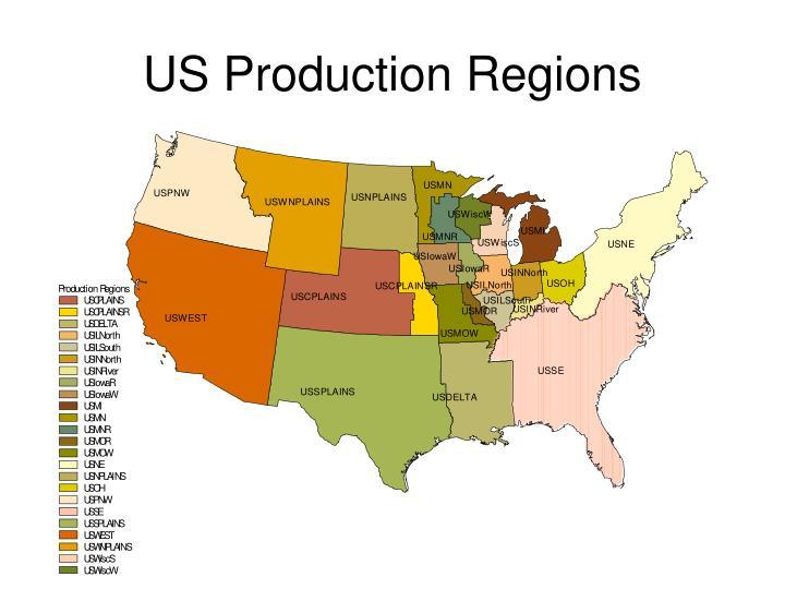 US Production Regions