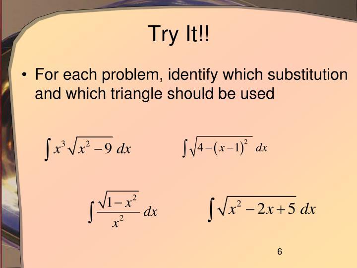 Try It!!