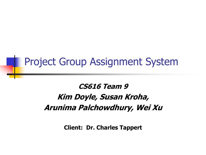 project group assignment system n.