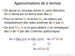 approximations de termes
