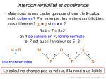 interconvertibilit et coh rence