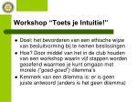 workshop toets je intuitie