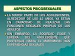 aspectos psicosexuales