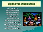 conflictos emocionales
