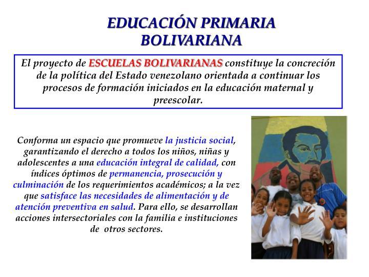 EDUCACIÓN PRIMARIA BOLIVARIANA