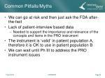 common pitfalls myths