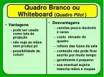 quadro branco ou whiteboard quadro pilot