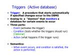 triggers active database