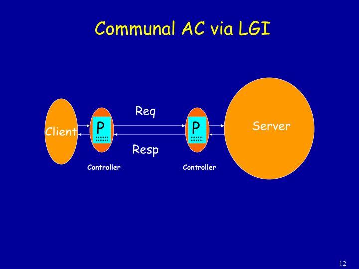 Communal AC via LGI