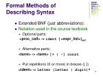 formal methods of describing syntax8