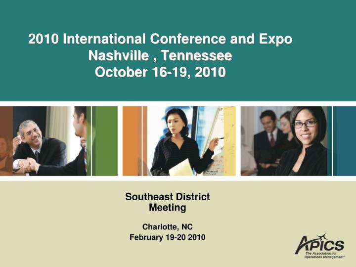 2010 international conference and expo nashville tennessee october 16 19 2010 n.