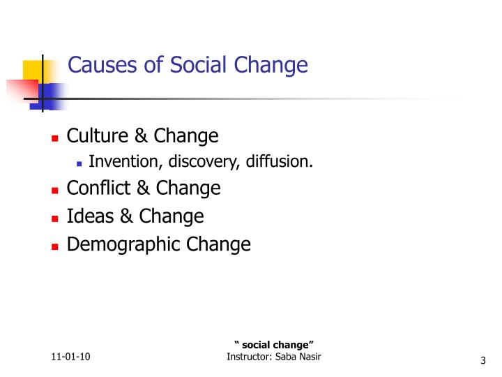Causes of social change