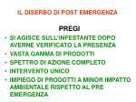 il diserbo di post emergenza