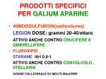 prodotti specifici per galium aparine