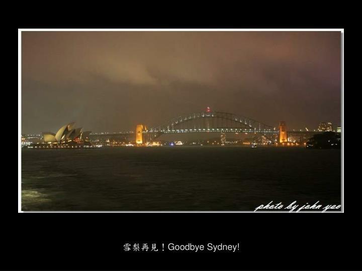 雪梨再見!
