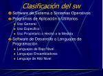 clasificaci n del sw