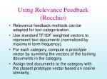 using relevance feedback rocchio