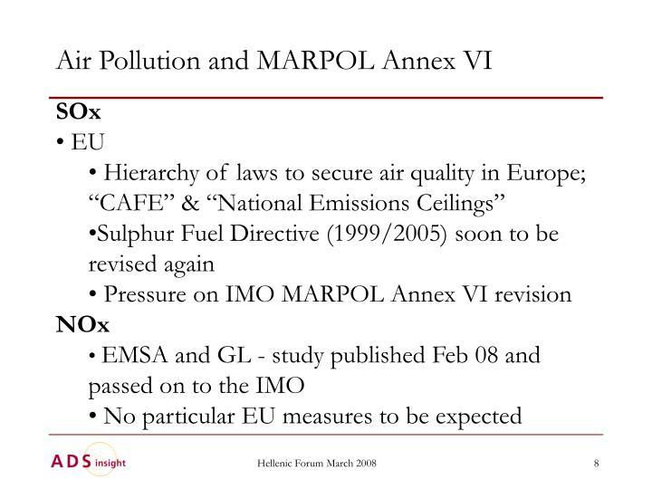Air Pollution and MARPOL Annex VI