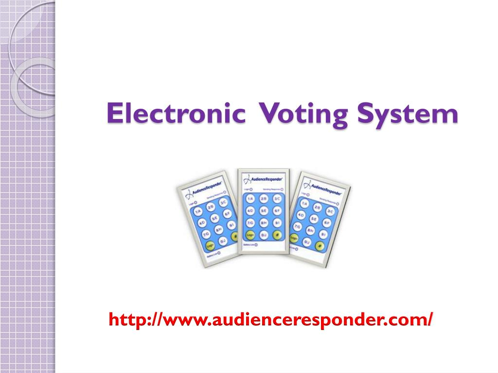 electronic voting system l.