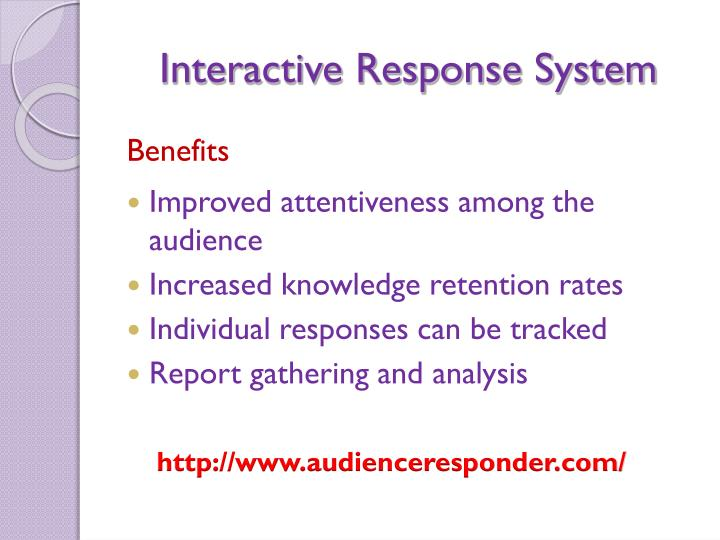 Interactive response system3