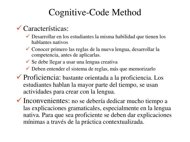 Cognitive-Code Method