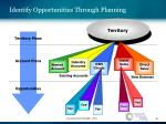 identify opportunities through planning