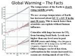 global warming the facts