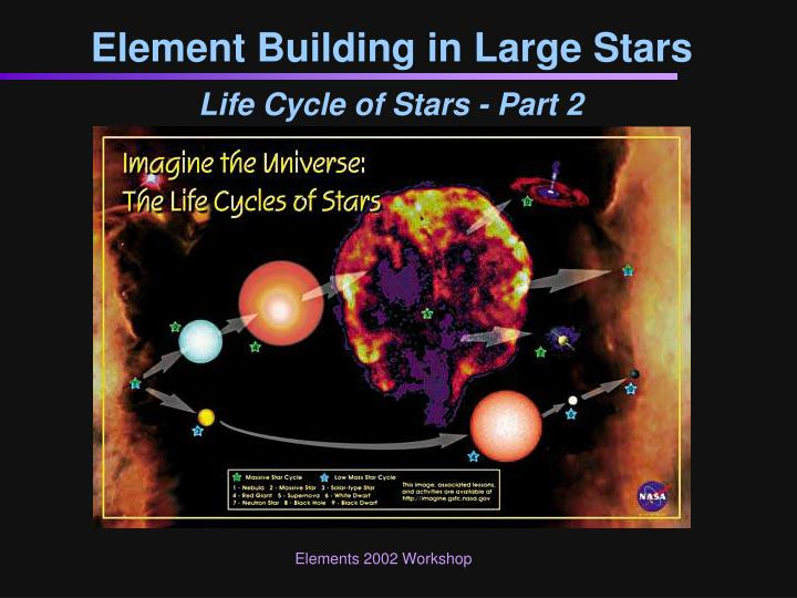 element building in large stars n.