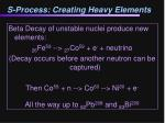 s process creating heavy elements
