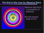 the end of the line for massive stars