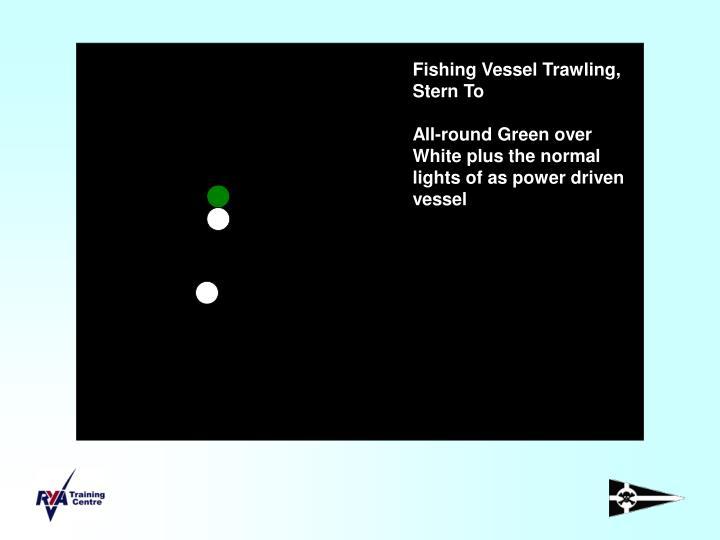 Fishing Vessel Trawling, Stern To