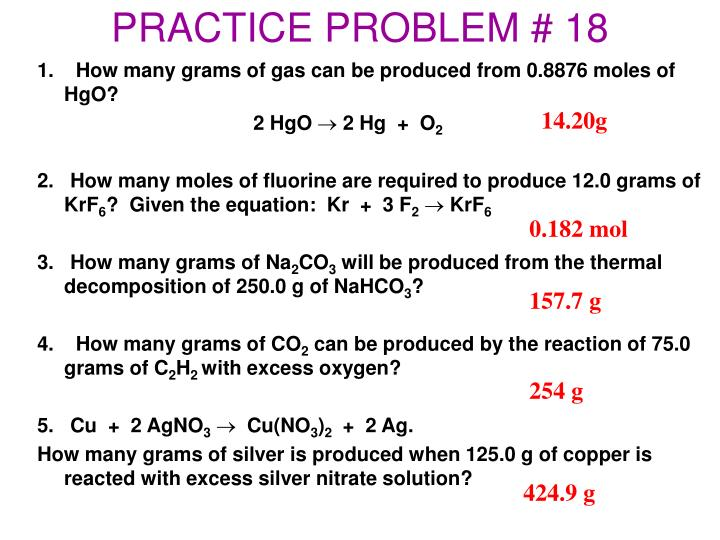 PRACTICE PROBLEM # 18