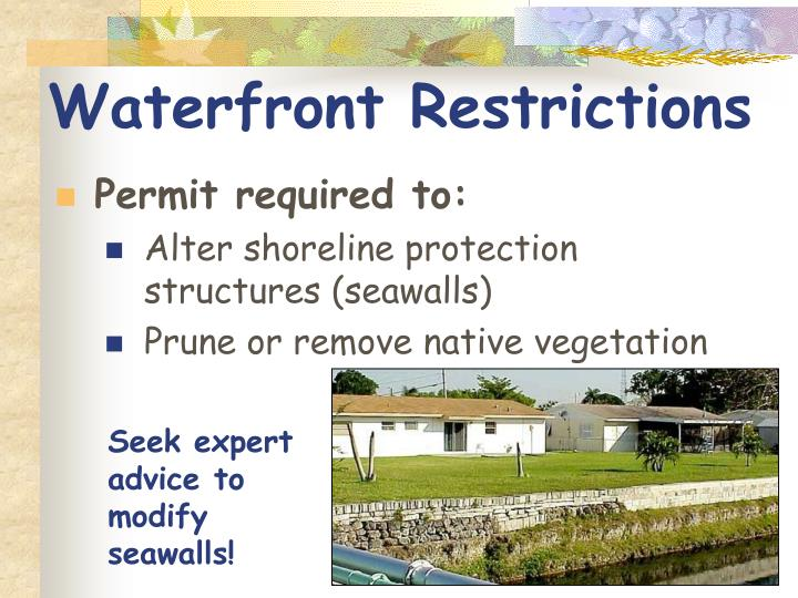Waterfront Restrictions