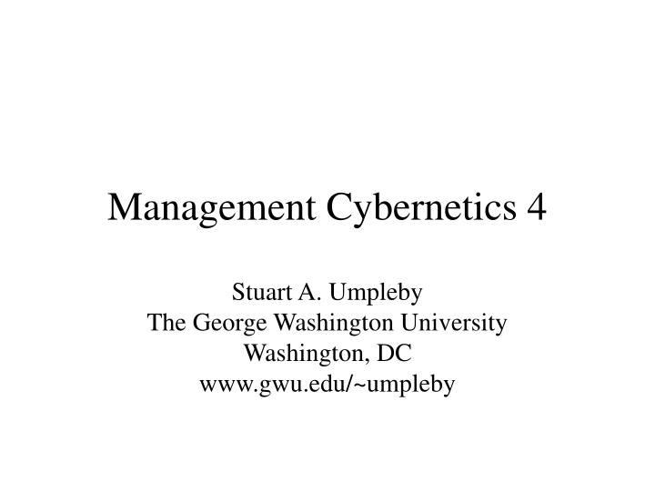 management cybernetics 4
