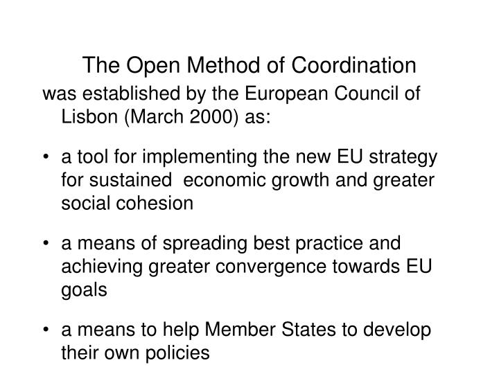 The open method of coordination