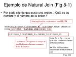 ejemplo de natural join fig 8 1