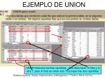 ejemplo de union