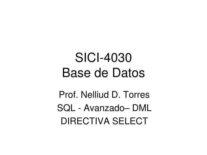 sici 4030 base de datos n.