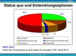 status quo und entwicklungsoptionen1