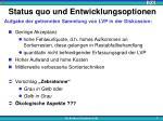 status quo und entwicklungsoptionen3